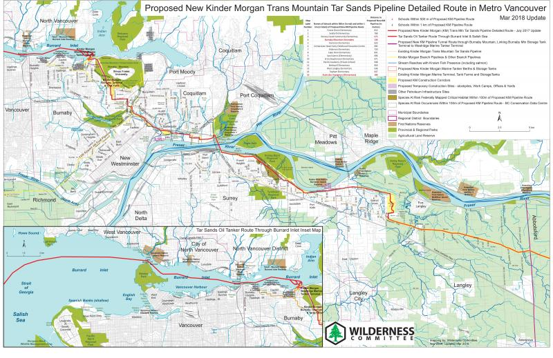 Kinder Morgan Pipeline Route Maps | Wilderness Committee