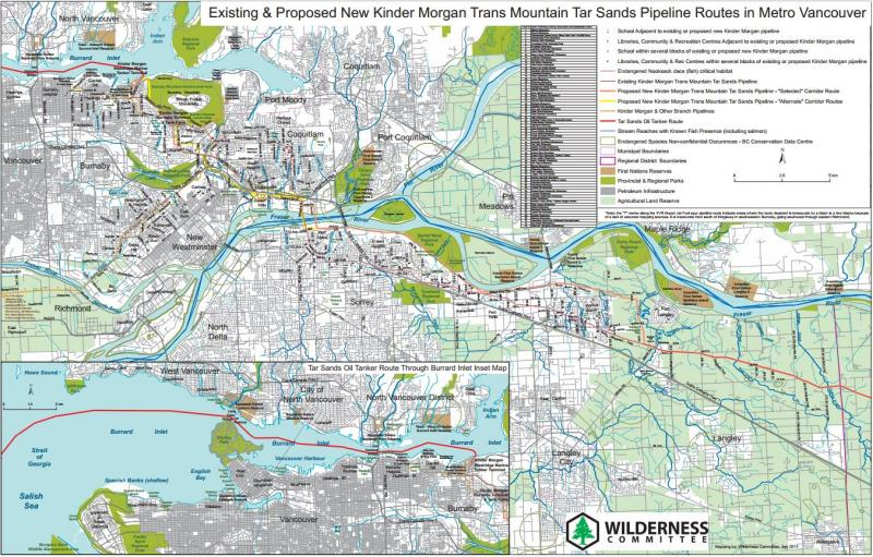 Kinder morgan pipeline route maps wilderness committee download this map in pdf format sciox Image collections