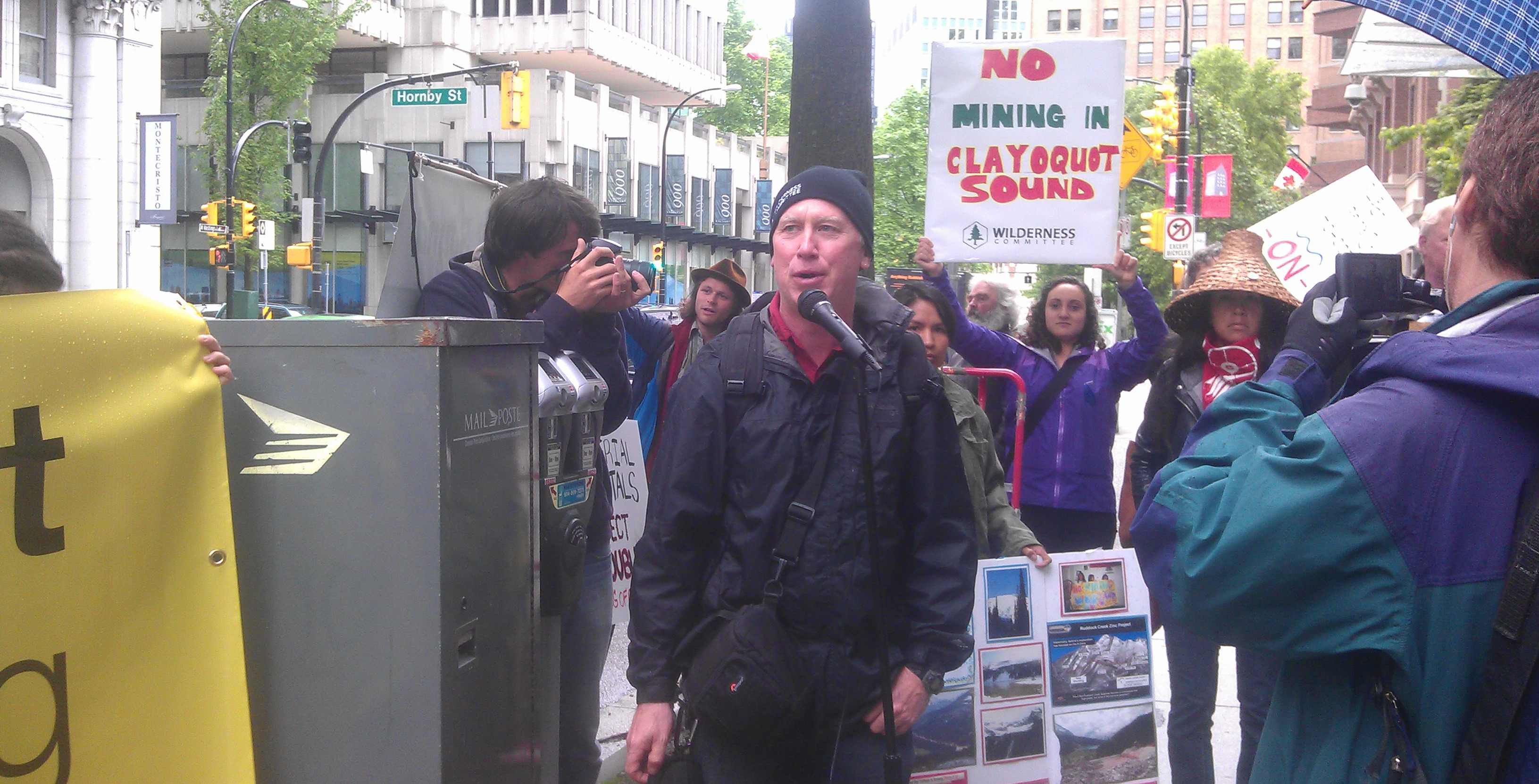 Activists protest Clayoquot Sound mining plans   Wilderness Committee