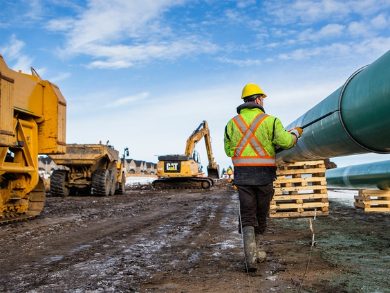 The Trans Mountain pipeline expansion project is currently scheduled to be finished at the end of 2022. Photo from Trans Mountain/Twitter