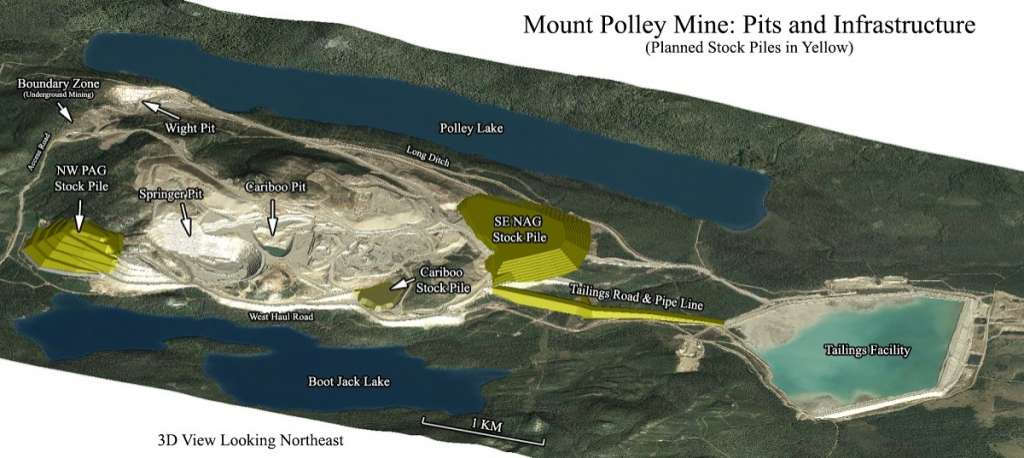 A map of the Mount Polley Mine (Seattle Pi).