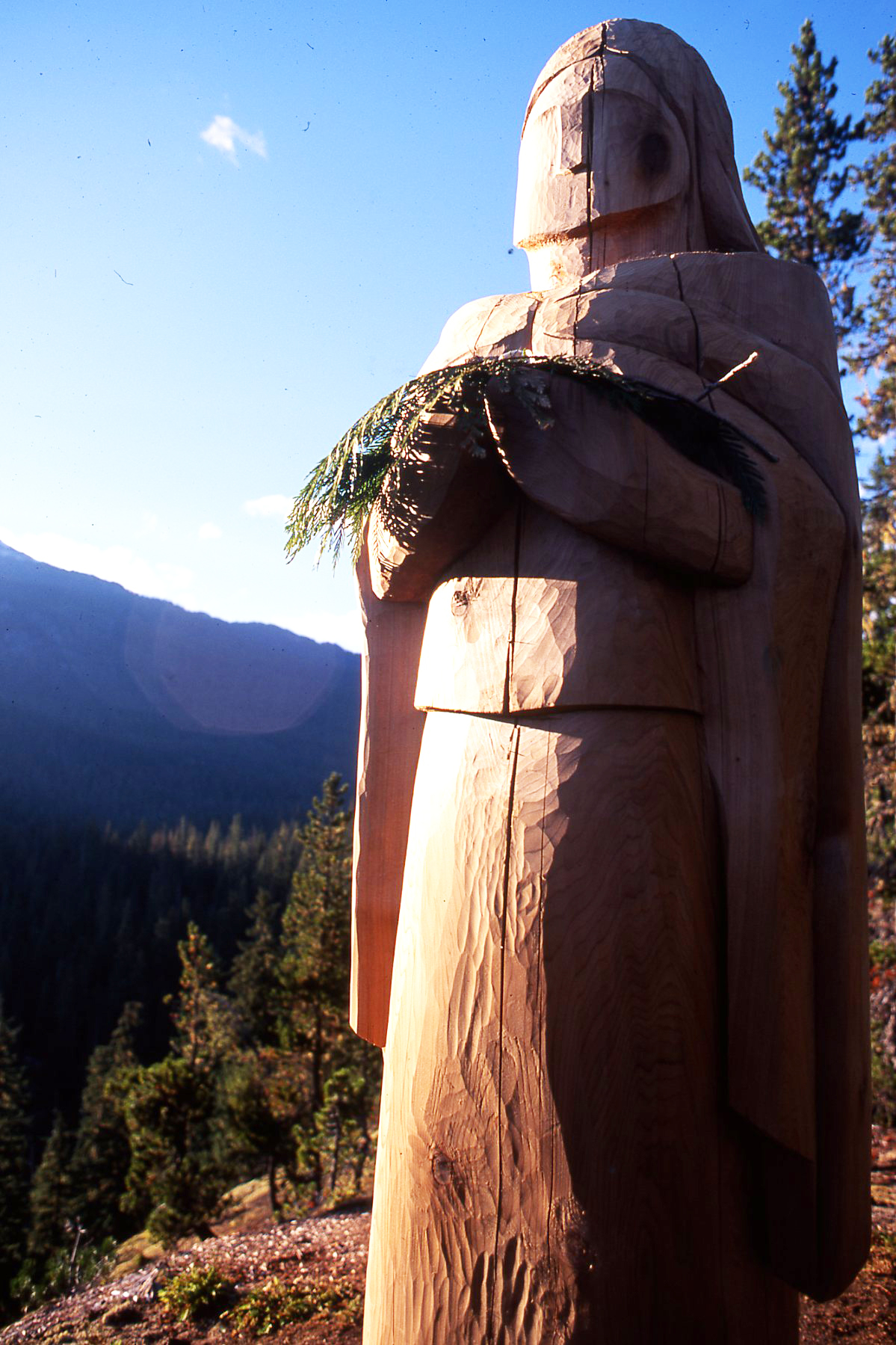 Photo: Cedar woman watches over Squamish Nation Wild Spirit Places (WC files).