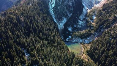 This entire valley, about 26 miles southeast of Hope, British Columbia, drains into the headwaters of the Skagit River, the most important salmon producer in Puget Sound.