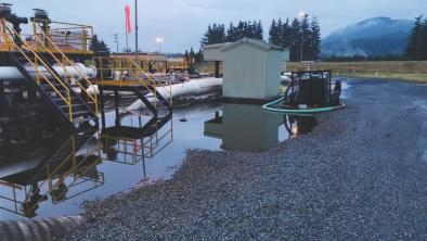 Trans Mountain posted this photo of the Sumas Pump Station prior to clean-up efforts. Photo: Trans Mountain pipeline