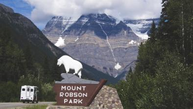 Entrance to BC's Mount Robson Provincial Park