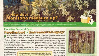 "A scan of a 2007 report that asks ""Manitoba's Provincial Parks: Paradise Lost or Environmental Legacy?"""