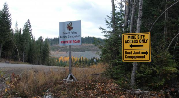 Road to Mount Polley Mine