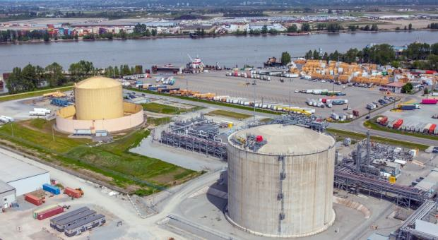 FortisBC's Tilbury LNG facility. Photo By FORTISBC